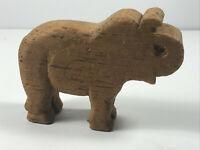 Folk Art Carved Wood Wooden Elephant Statue Figurine