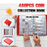 480 Pockets Storage Book Commemorative Money Penny Coin Collection Album Holder