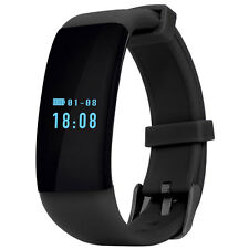 DFit D21 Heart Rate Monitor Waterproof Sports Bluetooth Smart Bracelet Black