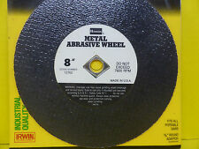 "IRWIN 12762 ~ 8"" Metal Abrasive Wheel for Guttering  Angle Iron Etc NEW"