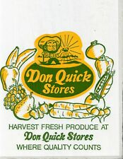 3 Don Quick VTG Stockton Grocery Store Vegetable Produce Bags Miner Gold Nugget