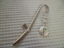 """Decorative Metal Initial """"F"""" Beaded Book Mark New Gift Office Home Accessory A"""