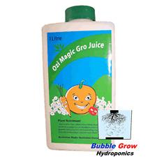 GRO JUICE 1L ORGANIC HYDROPONIC NUTRIENTS OZI MAGIC GROW GROWING NUTRIENT