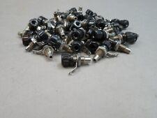 Lot of 100 Black Banana Jack Plug Receptacle Panel Mount