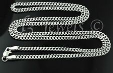 4.90 grams 18k solid white gold curb link chain necklace 18 inches #1257 lobster