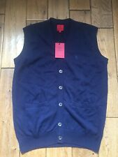 New Mens Swade Clothing Navy Sleeveless Cardigan Size M £15.99 or best offer