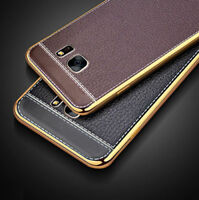 New Luxury Ultra Thin PU Leather Case Cover for Samsung Galaxy S6 S7 Edge S8/+