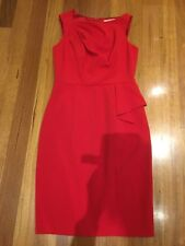 REVIEW DRESS Size 10 Red Work Office Formal Good Condition Penny5 For 5% Off