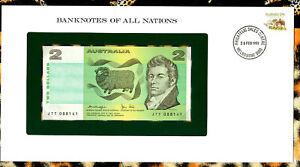 Banknotes of All Nations Australia 2 Dollars 1979 P-43c AUNC Knight/Stone JTT