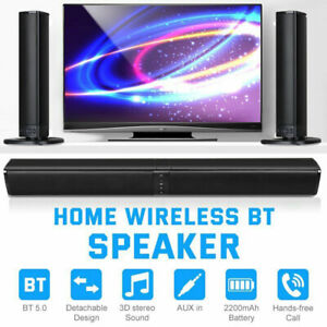 3D Surround Sound Bar Bluetooth Soundbar System Wireless Theater Speaker TV PC