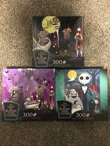 The Nightmare Before Christmas Puzzle 300 Piece Jack Skellington Lot Of 3
