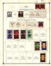 Togo Collection from Huge Scott Intern Album - 1840-1955