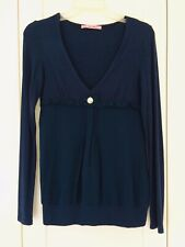 FORNARINA JEANS TOP LONG SLEEVE NAVY BLUE SIZE M