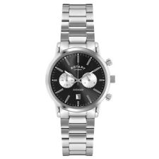 Rotary Mens Timepieces Sports Avenger Black Silver Chronograph Watch RRP £229