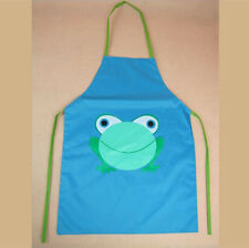 Frog Cute Kids Children Kitchen Baking Painting Apron Baby Art Cooking Craft Bib