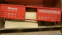 Athearn Bev-Bel Ltd Run HO BB 50 Railbox Boxcar Kit, Arcata & Mad River, NIB