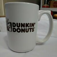 Dunkin' Donuts Coffee Cup Mug Plain White with Brown Lettering