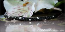 Zeitlos/Elegant: Schwarze Diamanten Armreif mit Brillanten 1,10 ct. WG585 3.300€