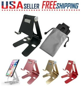 Cell Phone Stand Mount Fordable Desk Holder Cradle Dock iPad iPhone Switch Note