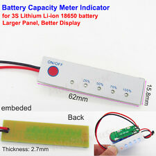 3S Lithium Li-ion 18650 12V BMS Battery Capacity Level LED Indicator Panel Meter