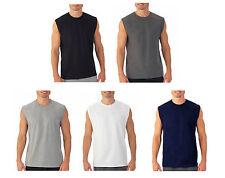 d656e72a5eaa3 Mens Sleeveless Muscle Tee Cotton Solid Blank Tank T Shirt Hot Summer Gym  Top