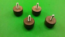 4 WOOD MINIATURE STRONG ROUND FURNITURE LEGS