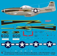 Peddinghaus 1/32 P-51D-10NA Mustang Black 600 Markings Edward McComas China 2658