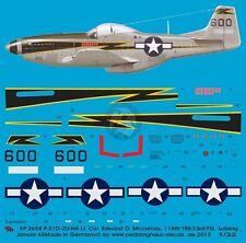 Peddinghaus 1/32 P-51D-10NA Mustang Black 600 Markings Edward McComas China 2658