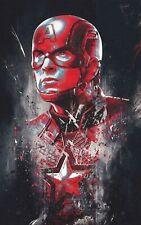 Captain America Marvel Movie Digital Art Poster Print T1719  A4 A3 A2 A1 A0 