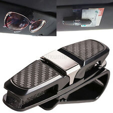 Universal Black Car Auto Sun Visor Glasses Sunglasses Card Ticket Holder Clip