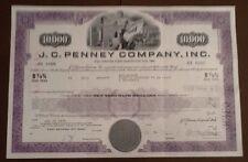 J.C. penney Company Inc 197 _ bastón Bond Certificate