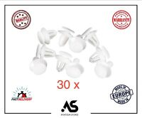 50x 8mm CLIPS For VAUXHALL CORSA DOOR CARD PANEL COVER WING MIRROR PLASTIC WHITE