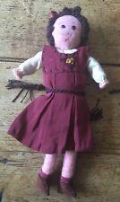 PETITE ANCIENNE VINTAGE 1940/50s Handmade caractère feutre poupée 3