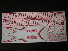 Cannondale Iroman Stickers White, Red  & Silver.