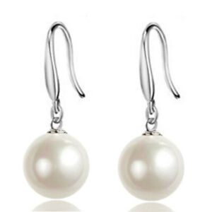 Cultured Freshwater Pearl Earrings White/Cream Silver Stud dangle New jewelry