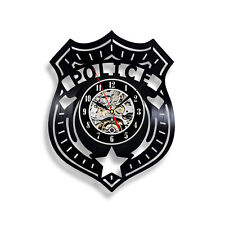Police Badge Vinyl Record Wall Clock - Gift for Policeman Creative Modern