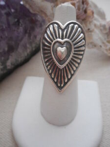 Relios Carolyn Pollack Sterling Silver Hearts on Hearts Ring   RE989