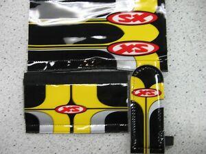 Vintage Schwinn XS BMX padset BLK/SILVER/YLW