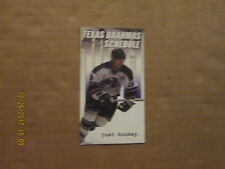 CHL Texas Brahmas Vintage Logo Hockey Pocket Schedule