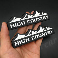 2x Metal White Black High Country Emblem Badge  fit all cars