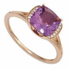 Echte Edelstein-Ringe aus Rotgold mit Amethyst für Damen