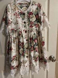 Trish Scully Child 10 Dress. EUC