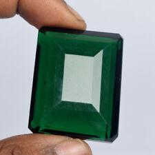 Dark Green Amethyst 140.50 Ct Emerald Cut Brazilian Loose Gemstone BS-598