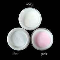 3pcs Nail Art Clear Pink White Acrylic Powder Liquid Tips UV Builder Manicure