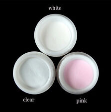 3pc Nail Art Clear Pink White Acrylic Powder Liquid Tips UV Gel Builder Manicure
