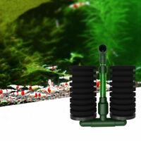 Pecera de acuario bioquímica esponja filtro de aire bomba doble cabeza Ventosa