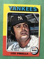 1975 Topps Mini New York Yankees Baseball Card #217 Lou Piniella