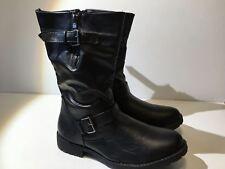 ShoeVibe Women's Brooklyn Mid-Calf Boot (1062) Black Size 11