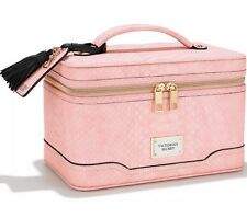 Victoria's Secret Hanging Travel Train Case Pink, Python With Mirror, New.