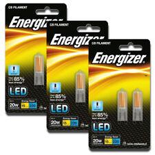 6 x 2w (=20w) Energizer LED G9 ECO Capsule Bulb 3500k Warm 6500k Daylight White